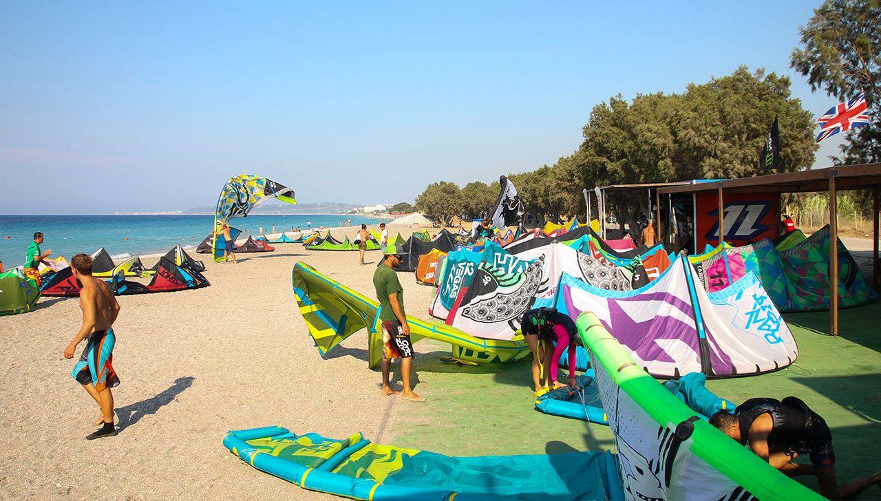 thebeach-kitesurfing-kite-air-riders-kitepro-center-kremasti-rhodes-gear